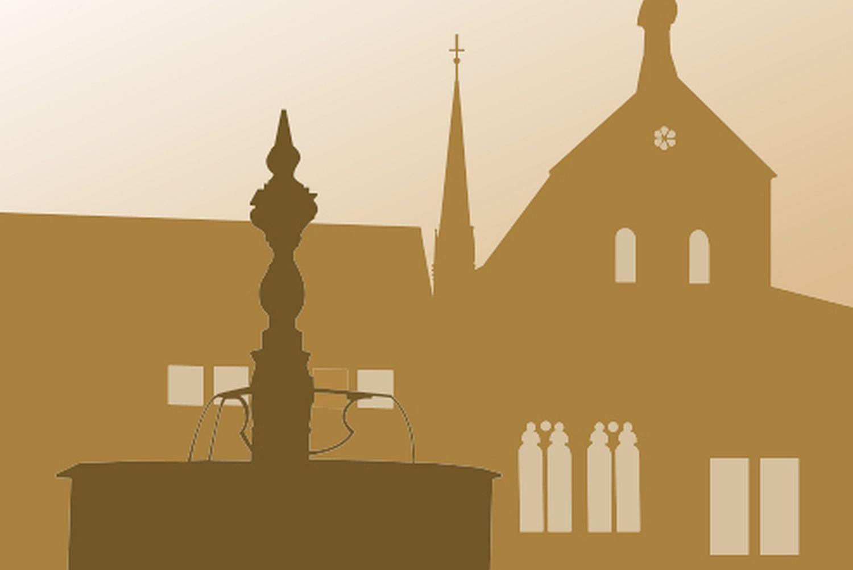 Symbol für Standardführungen in Kloster Maulbronn Illustration: Staatliche Schlösser und Gärten Baden-Württemberg, JUNG:Kommunikation GmbH