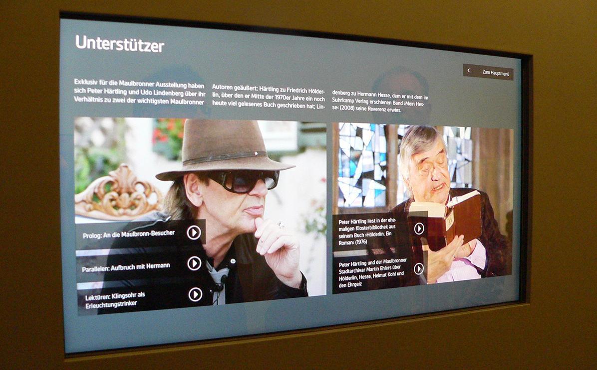 """Literaturmuseum """"Besuchen. Bilden. Schreiben. Das Kloster Maulbronn und die Literatur"""" in Kloster Maulbronn; Foto: Staatsanzeiger für Baden-Württemberg, Barbara Erbsen-Haim"""