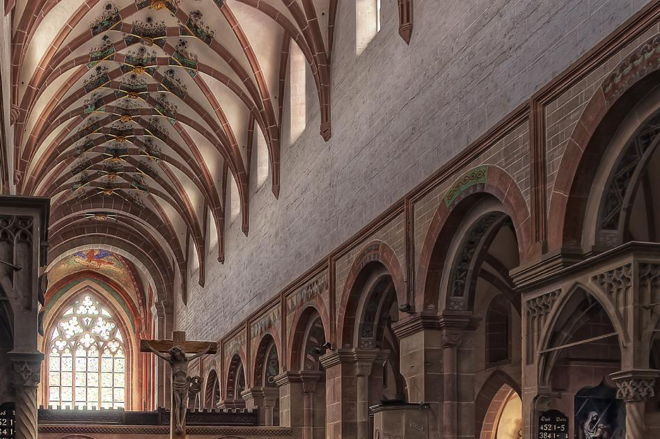 View into the monastery church at Maulbronn Monastery. Image: Staatliche Schlösser und Gärten Baden-Württemberg, credit unknown