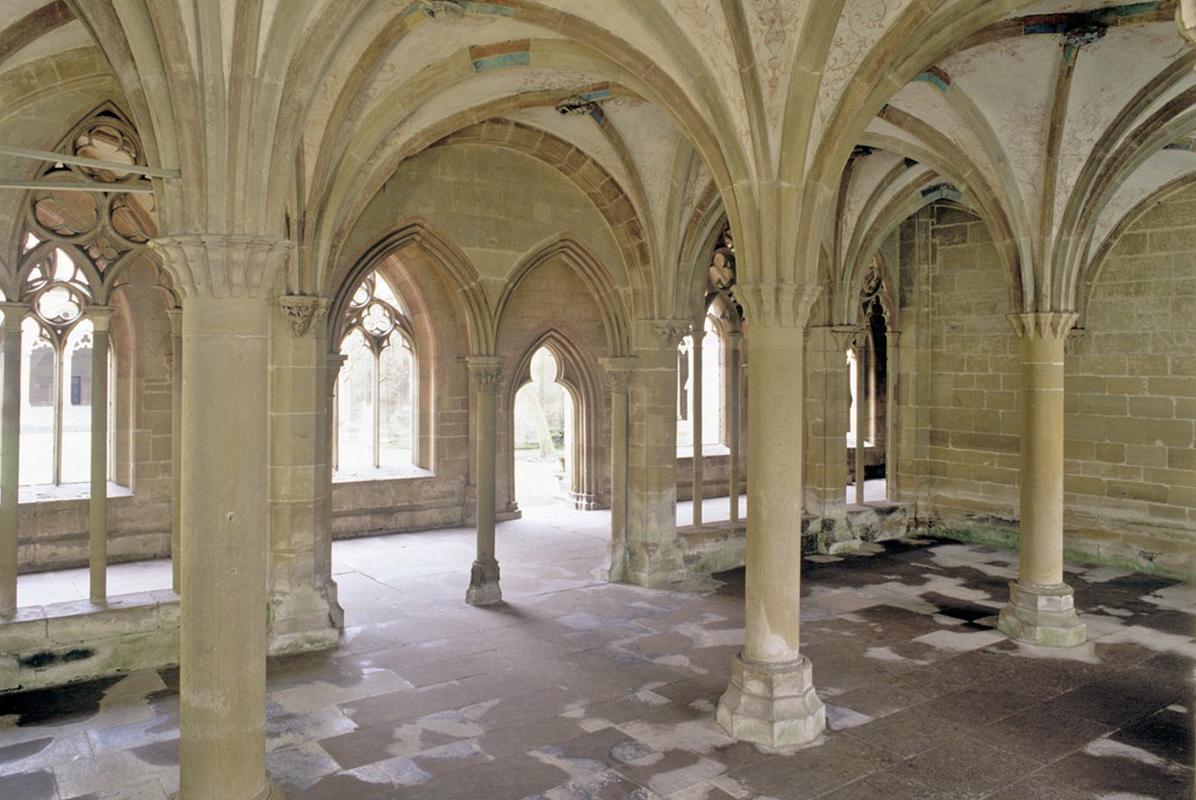 Interior of the chapter house at Maulbronn Monastery. Image: Staatliche Schlösser und Gärten Baden-Württemberg, Steffen Hauswirth