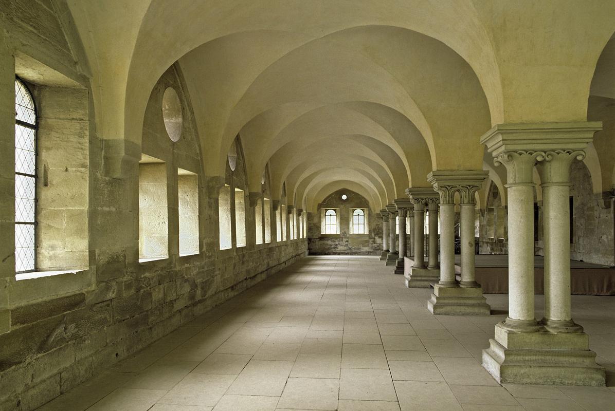 Innenansicht des Laienrefektoriums des Klosters Maulbronn