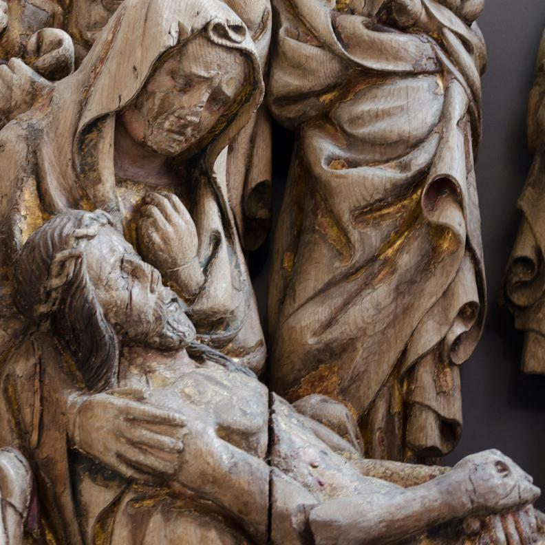 Beweinung Christi, Detail, Hochaltar der Maulbronner Klosterkirche; Foto: Staatsanzeiger für Baden-Württemberg, Julia Haseloff