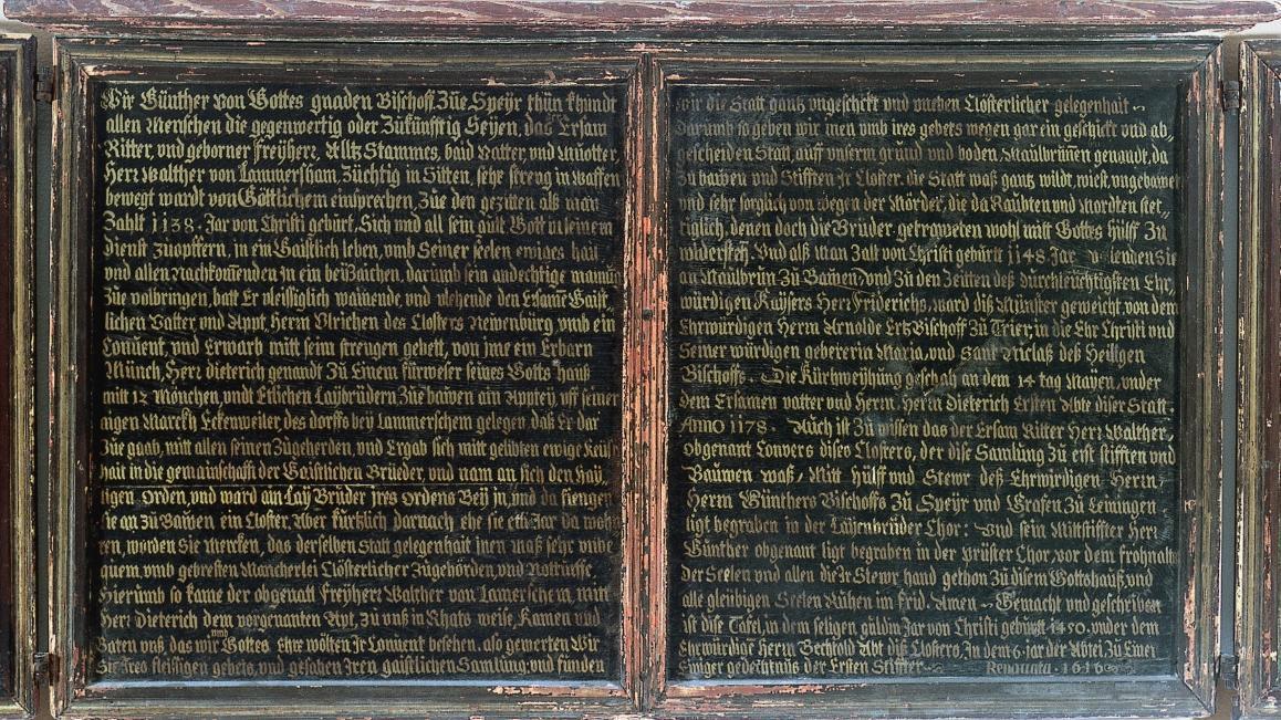 Die Mitteltafel der Stiftungstafel, Öl auf Holz, 1450; Foto: Staatliche Schlösser und Gärten Baden-Württemberg, Arnim Weischer