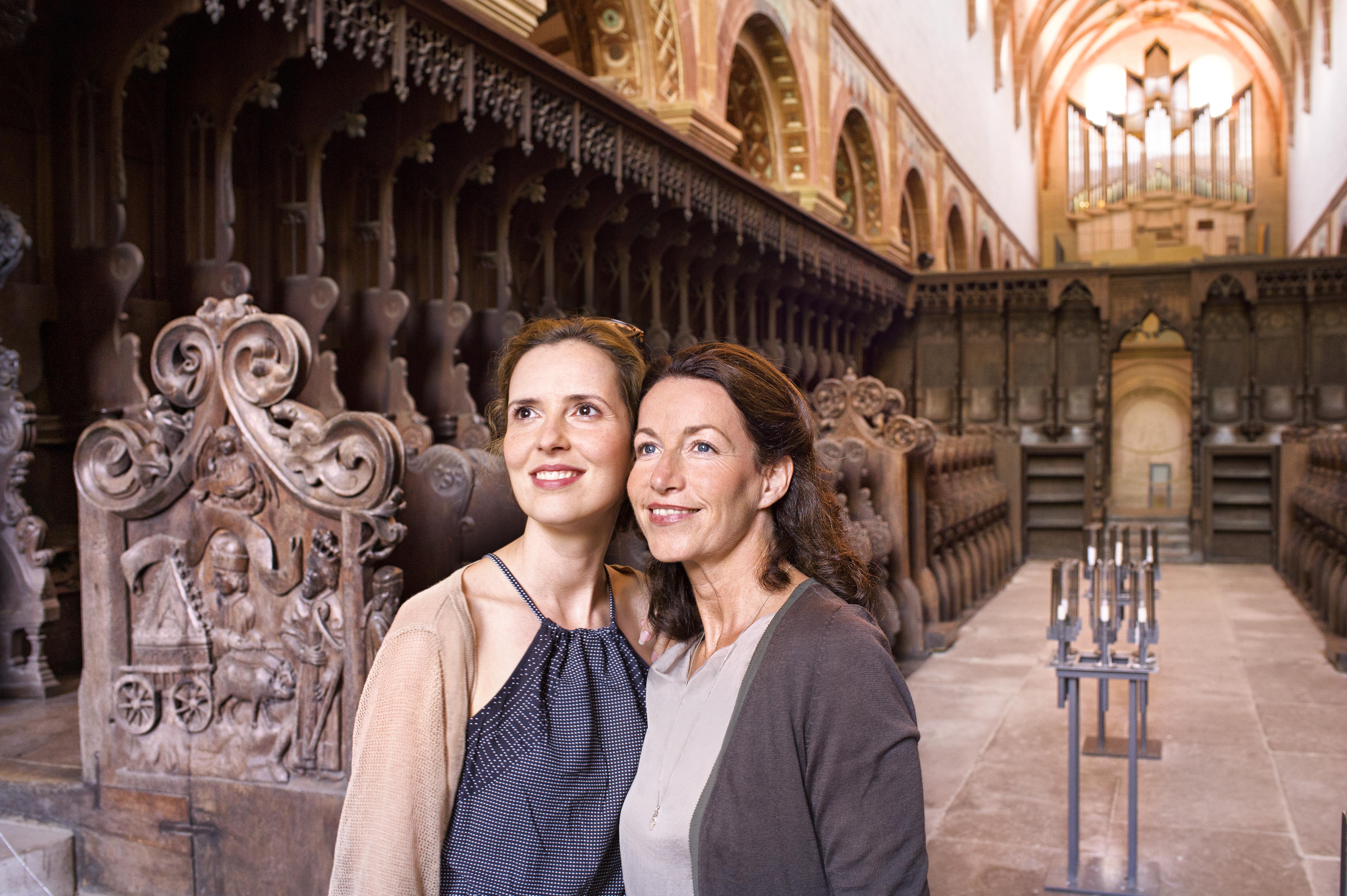 Besucher im Kloster Maulbronn; Foto: Staatliche Schlösser und Gärten Baden-Württemberg, Niels Schubert