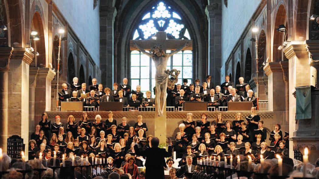 Maulbronn chamber choir concert. Image: Vermögen und Bau Baden-Württemberg