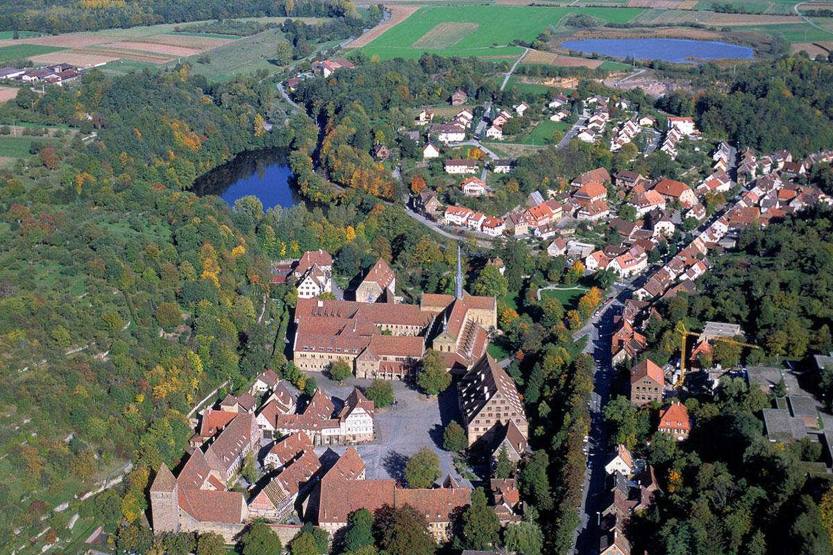 Areal view of Maulbronn Monastery