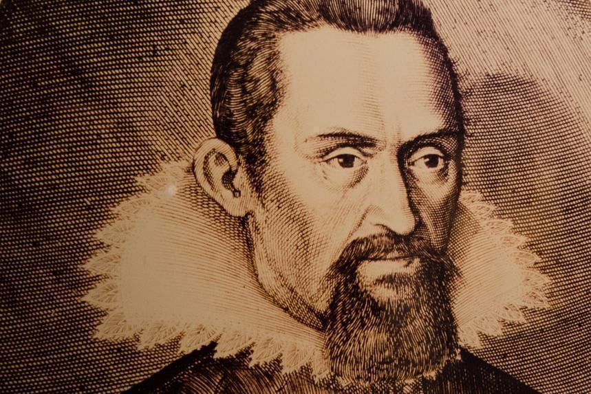 Portrait of Johannes Kepler, copper engraving circa 1620. Image: Staatliche Schlösser und Gärten Baden-Württemberg, Julia Haseloff