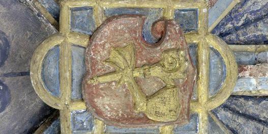 Wappen des Abts Johann Entenfuß am ehemaligen Herrenhaus von Kloster Maulbronn; Foto: Landesmedienzentrum Baden-Württemberg, Urheber unbekannt
