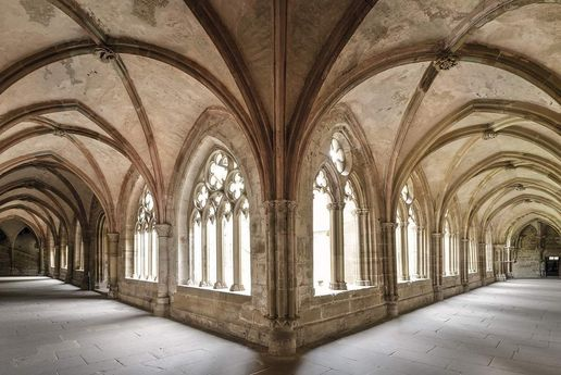 Maulbronn Monastery, interior view of the cloister