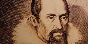 Portrait of Johannes Kepler, copper engraving circa 1620