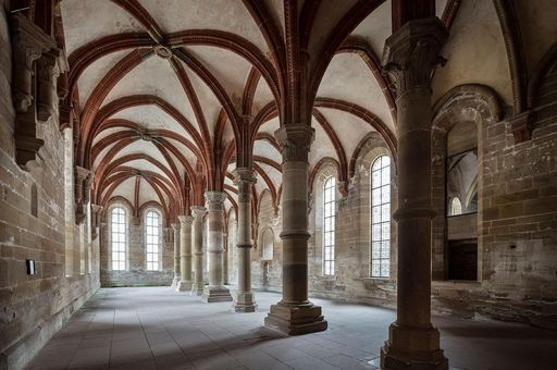 Das Herrenrefektorium von Kloster Maulbronn; Foto: Staatliche Schlösser und Gärten Baden-Württemberg, Günther Bayerl.