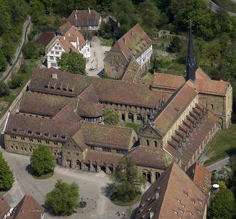 Aerial image of hermitage at Maulbronn Monastery. Image: Staatliche Schlösser und Gärten Baden-Württemberg, Achim Mende