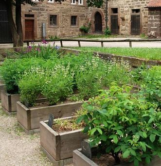 Herb garden at Maulbronn Monastery. Image: Staatliche Schlösser und Gärten Baden-Württemberg, Peter Braun