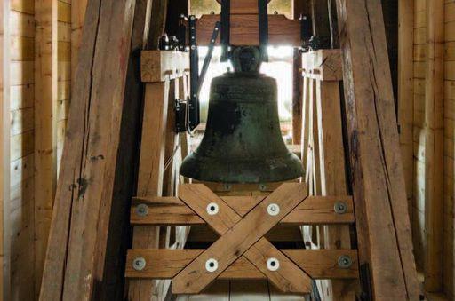 Historic bell in its new belfry. Image: Vermögen und Bau Baden-Württemberg