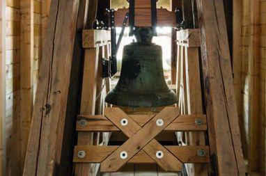 Historische Glocke in der neuen Glockenstube; Foto: Vermögen und Bau Baden-Württemberg