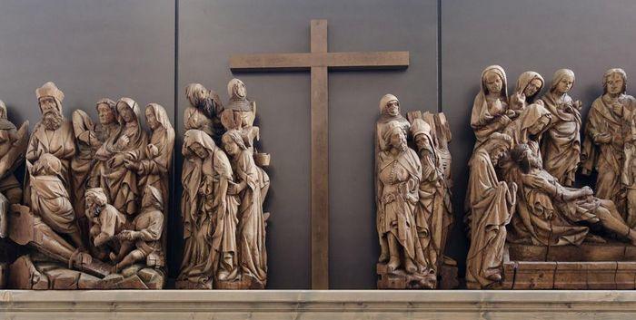 Relief am Hochaltar der Klosterkirche Maulbronn
