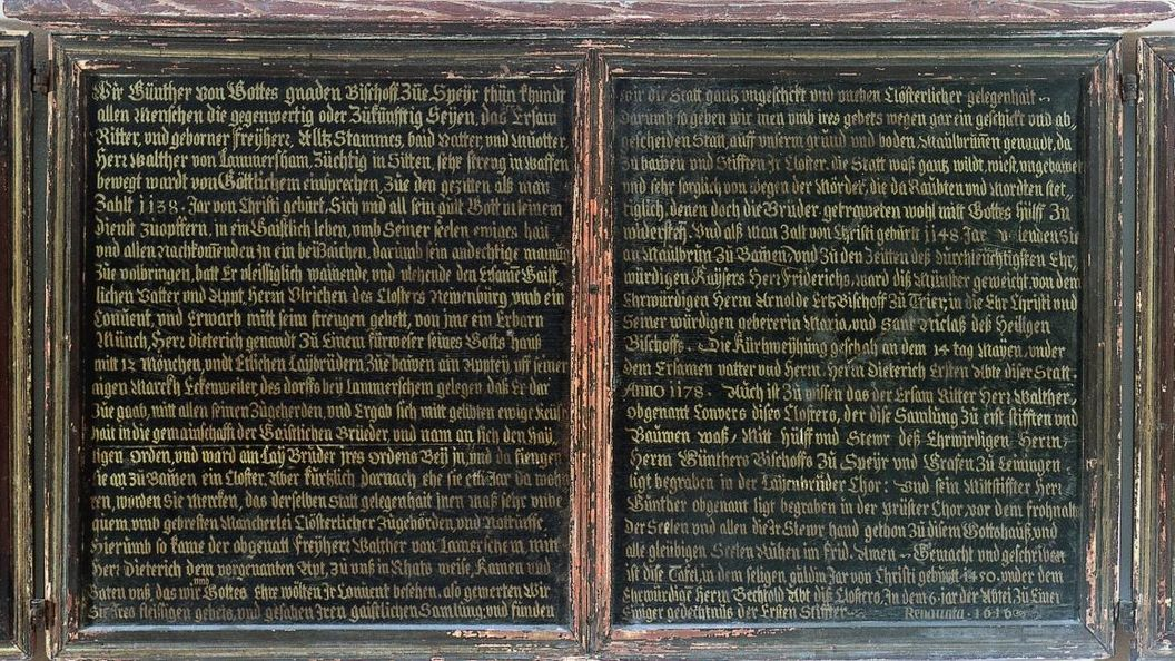 Center panel of the founders panel, oil on wood, 1450. Image: Staatliche Schlösser und Gärten Baden-Württemberg, Arnim Weischer