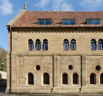 Außenansicht des Laienrefektoriums, Kloster Maulbronn; Foto: Staatliche Schlösser und Gärten Baden-Württemberg, Julia Haseloff