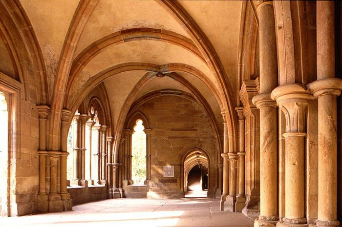 Image: Interior of the early Gothic narthex (Paradise) at Maulbronn Monastery