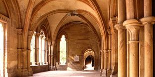 Interior of the early Gothic narthex (Paradise) at Maulbronn Monastery