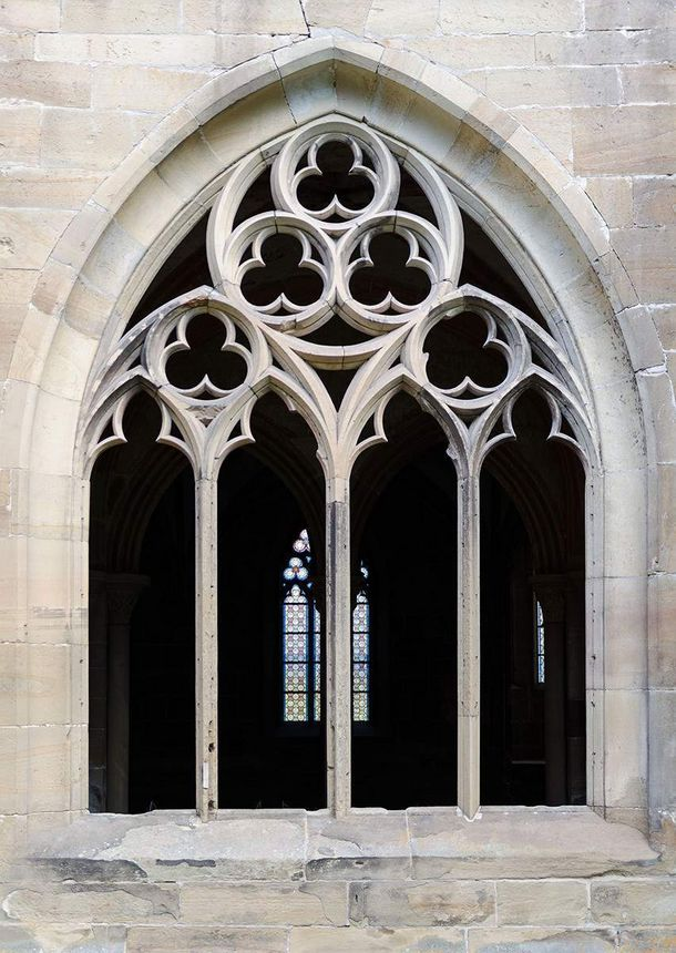 Maulbronn Monastery, detailed view of a cloister window