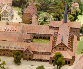 Model of the monastery complex in the information center at Maulbronn Monastery. Image: Staatliche Schlösser und Gärten Baden-Württemberg, Julia Haseloff