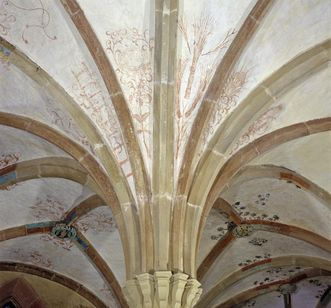 Painted vaults in the chapter house at Maulbronn Monastery. Image: Landesmedienzentrum Baden-Württemberg, Lutz Hecker