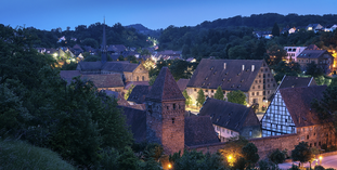 Maulbronn Monastery at night