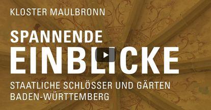 """Startbildschirm des Filmes """"Spannende Einblick mit Michael Hörrmann: Kloster Maulbrbonn"""""""
