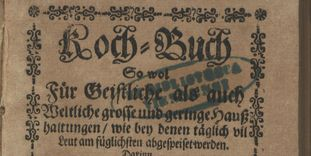 Title page of Bernhard Buchinger's cookbook from 1700