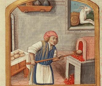 Medieval bakery. Image: Wikipedia, public