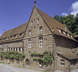 Vue extérieure de l'ancien moulin du monastère de Maulbronn; crédit photo: Staatliche Schlösser und Gärten Baden-Württemberg, ArnimWeischer