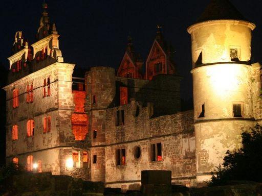 Kloster Hirsau, Jagdschloss bei Nacht
