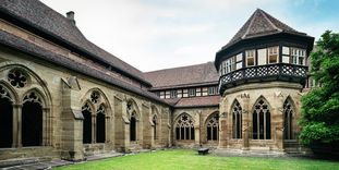 Maulbronn Monastery, refectories, fountain house and kitchen along the monastery's cloister