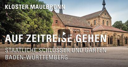 """Startbildschirm des Filmes """"Zeitreise mit Michael Hörrmann: Kloster Maulbronn"""""""