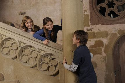 Maulbronn Monastery, children on the staircase