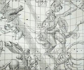 Detail from a star map by Johannes Kepler. Image: Landesmedienzentrum Baden-Württemberg, Arnim Weischer